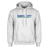 White Fleece Hoodie-Dunk City Official Logo