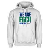 White Fleece Hoodie-We Are FGCU