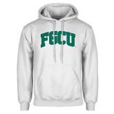 White Fleece Hoodie-Arched FGCU