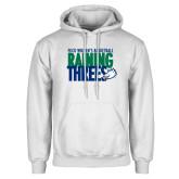 White Fleece Hoodie-Raining Threes
