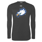 Under Armour Carbon Heather Long Sleeve Tech Tee-Eagle Head
