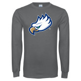 Charcoal Long Sleeve T Shirt-Eagle Head