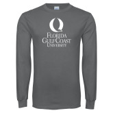 Charcoal Long Sleeve T Shirt-University Mark Stacked