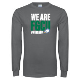 Charcoal Long Sleeve T Shirt-We Are FGCU