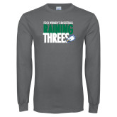 Charcoal Long Sleeve T Shirt-Raining Threes