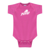 Fuchsia Infant Onesie-Primary Athletic Mark