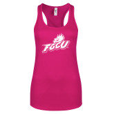 Next Level Ladies Raspberry Ideal Racerback Tank-Primary Athletic Mark