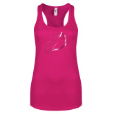 Next Level Ladies Raspberry Ideal Racerback Tank-Eagle Head Foil