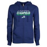 ENZA Ladies Royal Fleece Full Zip Hoodie-Regular Season Champions 2017 Mens Basketball Bar Design
