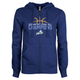 ENZA Ladies Royal Fleece Full Zip Hoodie-2016 Atlantic Sun Conference Champions Mens Basketball