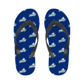 Ladies Full Color Flip Flops-Primary Athletic Mark