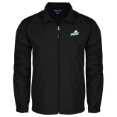 Full Zip Black Wind Jacket-Primary Athletic Mark