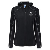 Columbia Ladies Sweet As Softshell Black Jacket-University Mark Stacked