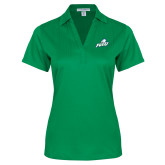 Ladies Kelly Green Performance Fine Jacquard Polo-Primary Athletic Mark