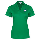 Ladies Kelly Green Performance Fine Jacquard Polo-Eagle Head