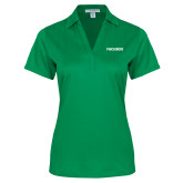 Ladies Kelly Green Performance Fine Jacquard Polo-FGCU at 20 Flat