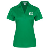 Ladies Kelly Green Performance Fine Jacquard Polo-FGCU at 20 Stacked