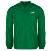 V Neck Kelly Green Raglan Windshirt-FGCU
