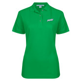 Ladies Easycare Kelly Green Pique Polo-FGCU