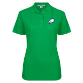Ladies Easycare Kelly Green Pique Polo-Eagle Head