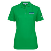 Ladies Easycare Kelly Green Pique Polo-ASUN Champions 2017 Mens Basketball