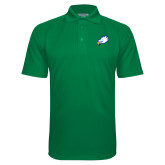 Kelly Green Textured Saddle Shoulder Polo-Eagle Head