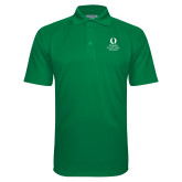 Kelly Green Textured Saddle Shoulder Polo-University Mark Stacked