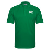 Kelly Green Textured Saddle Shoulder Polo-FGCU at 20 Stacked