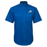 Royal Twill Button Down Short Sleeve-Primary Athletic Mark