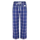 Royal/White Flannel Pajama Pant-Eagle Head