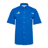 Columbia Bonehead Royal Short Sleeve Shirt-Primary Athletic Mark