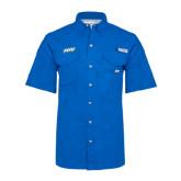 Columbia Bonehead Royal Short Sleeve Shirt-FGCU
