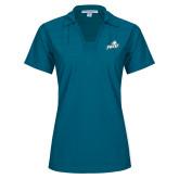 Ladies Sapphire Horizontal Textured Polo-Primary Athletic Mark