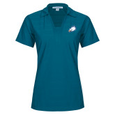 Ladies Sapphire Horizontal Textured Polo-Eagle Head