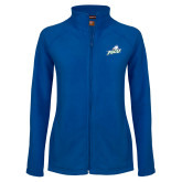 Ladies Fleece Full Zip Royal Jacket-Primary Athletic Mark
