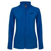 Ladies Fleece Full Zip Royal Jacket-FGCU Tone