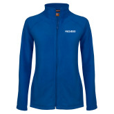Ladies Fleece Full Zip Royal Jacket-FGCU at 20 Flat