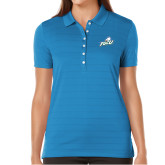 Ladies Callaway Opti Vent Sapphire Blue Polo-Primary Athletic Mark