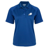Ladies Royal Textured Saddle Shoulder Polo-Eagle Head
