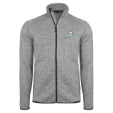 Grey Heather Fleece Jacket-Primary Athletic Mark