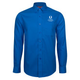 Red House French Blue Long Sleeve Shirt-University Mark Stacked