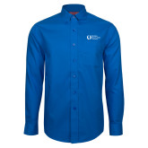 Red House French Blue Long Sleeve Shirt-University Mark Flat