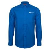 Red House French Blue Long Sleeve Shirt-University Mark Flat