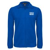 Fleece Full Zip Royal Jacket-FGCU at 20 Stacked