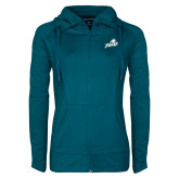 Ladies Sport Wick Stretch Full Zip Sapphire Jacket-Primary Athletic Mark