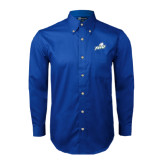 Royal Twill Button Down Long Sleeve-Primary Athletic Mark