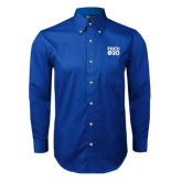 Royal Twill Button Down Long Sleeve-FGCU at 20 Stacked