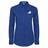Ladies Royal Twill Button Down Long Sleeve-Eagle Head