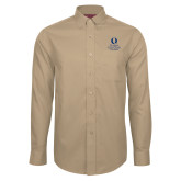 Red House Tan Long Sleeve Shirt-University Mark Stacked
