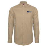 Red House Tan Long Sleeve Shirt-University Mark Flat